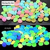 RETON 500 Piedras Man-Made Glow Piedras Luminosas Decorativas para Jardín Pasillo Yarda & Pecera Decoración Piedras (Color Mezclado)