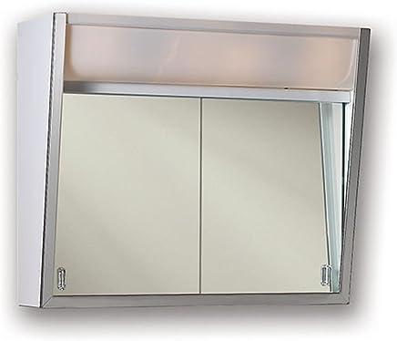Jensen 327LPX Lighted 2-Sliding Doors Medicine Cabinet,  28 x 19.5