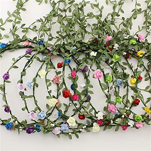 Wandskllss 26 unidades de diadema de flores guirnalda bohemia floral corona para mujeres y niñas, accesorios para el pelo para bodas, festivales, fiestas, multicolor, paquete mixto, 20 unidades
