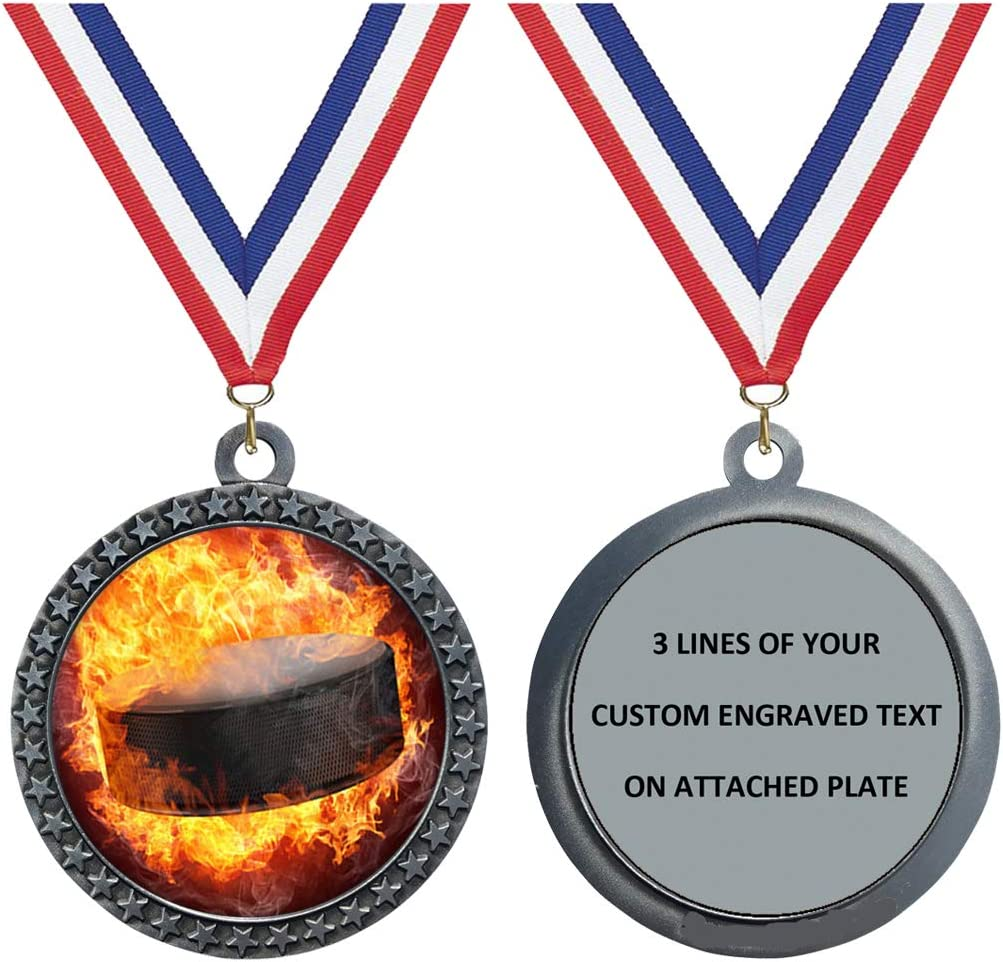 Express Medals Engraved 1 to Flame Free Shipping New Silv Hockey New sales Packs 50