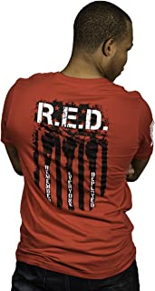 Nine Line Men's T-Shirt, Red