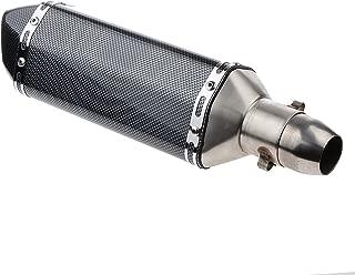 バイクサイレンサー スリップオンマフラー 38mm 50.8mm 汎用 オートバイ ブラック