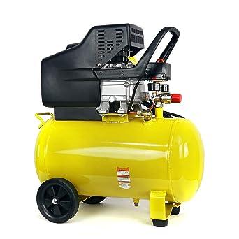 Stark 10-Gallon Portable Air Compressor Horizontal Tank 3.5HP Air Compressor Quiet Compressor w/Wheel: image