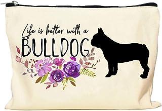 Bulldog Life is Better Makeup Bag