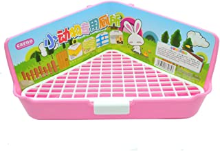 WYOK Big Triangle-Shaped Rabbit Cage Litter Box Corner Toilet Potty Trainer for Adult Guinea Pig Ferret Small Animals