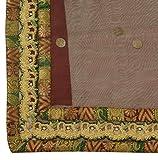 Vintage Indian Saree Woven Polka Dots Hand Made Zardozi
