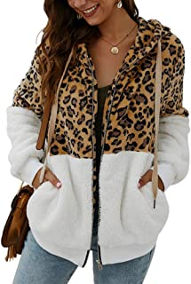 ALLUMK Womens Hoodies Sherpa Pullover Fuzzy Hooded Casual Sweatshirt Fleece Winter Coats with Pockets