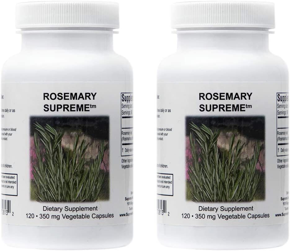 Don't miss the campaign Supreme Nutrition Rosemary 120 Pure Capsules 350 Over item handling ☆ mg 7