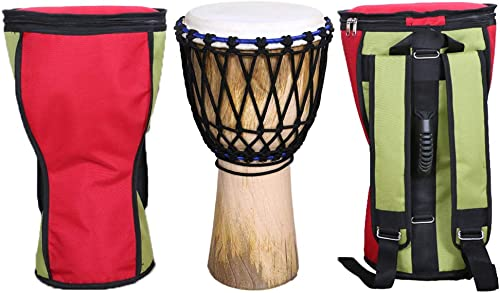 Star Musical and Handicraft - Djembe 10 Inch Musical Instrument Percussion Hand Drums Tribal Dholki with Free Premium...