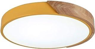 Rond Macaron Plafonnier,Enfants Chambre Bois LED Plafonnier,Moderne Intérieur Éclairage Pour Garçons Filles Chambre Salon ...