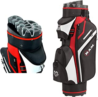 Ram Golf Premium Trolley Bag with 14 Way Molded Organizer Divider Top Black/Red
