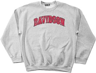 NCAA Davidson Wildcats 50/50 Blended 8-Ounce Vintage Arch Crewneck Sweatshirt
