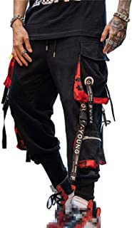 Hello MrLin Men's Techwear Pants Hip Hop Joggers Cargo Pants Baggy Streetwear Punk Trousers