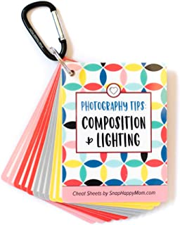 Photography Tips: Composition & Lighting Cheat Sheet Cards | Pocket-Sized Quick Reference Cards for Beginners | Snap Happy Mom