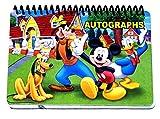 Livro de autógrafos do Mickey e da Gang da Disney