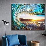 SADHAF HD-Druck Blue Wave Seestück Poster und Druck