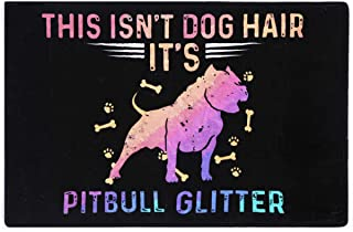 This isn't Dog Hair Funny Pitbull Doormat Mat Flannel Rug for Front Entrance Indoor Bedroom - Non Slip Back Doormat for Of...