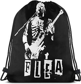 Flea-Red-Hot-Chili-Peppers-RHCP-Skeleton-Costume-Bass Mochila con cordón Cinch Polyester Bulk Bolsas de Hilo Impermeables para Deportes Gimnasio Yoga Natación Viajes