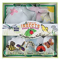 5 Piece Insect Cookie Cutter Set