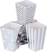 72 piezas cajas de palomitas de maíz chips de maíz papel plateado puntos de color rayas ondas para la fiesta de bodas cumpleaños picnic