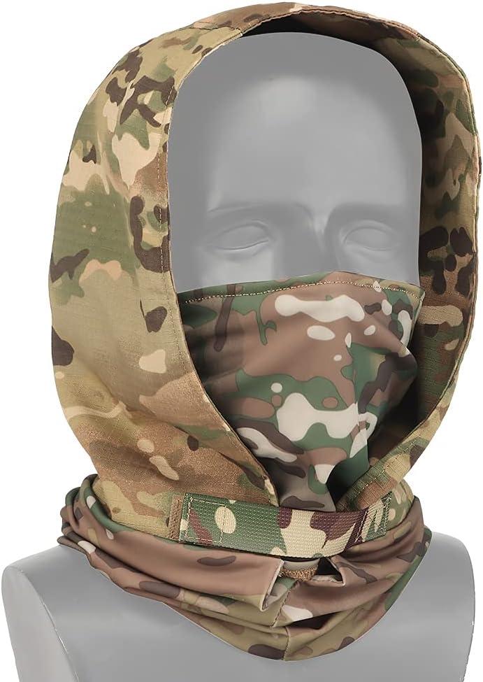 Huenco Tactical Headgear Airsoft Max 70% OFF gift Fabric Hea Stretch MaskHood