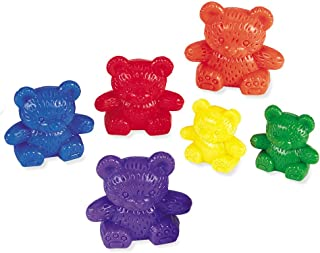 Learning Resources Three Bear Family Counters, Educational Counting and Sorting Toy, Rainbow, Set of 96 Ages 3+