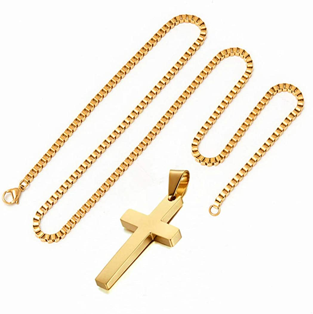 Q&S Jewels Gold Necklaces for Women Men & Teens 1.5mm Box Chain Necklace Stainless Steel 18K Gold Plated,Fashion Statement Jewlery,Thin Yet Durable Chain, Wear Lone or with Pendant, 16-26 Inch