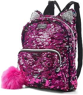 Flip Sequin Kitty Mini Backpack Black