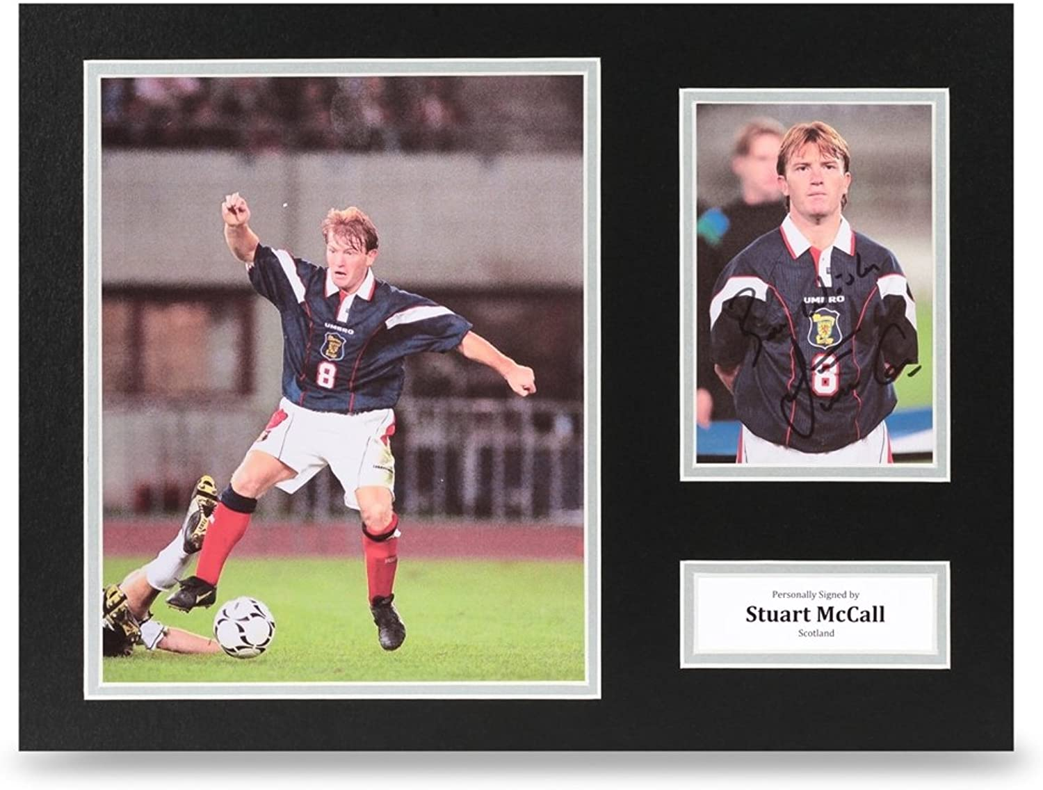 Stuart McCall Signed 16x12 Photo Display Scotland Autograph Memorabilia + COA