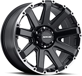 MKW Offroad M94 Satin Black Wheel Finish and Machined Outer Ring (18 x 9. inches /6 x 135 mm, 10 mm Offset)