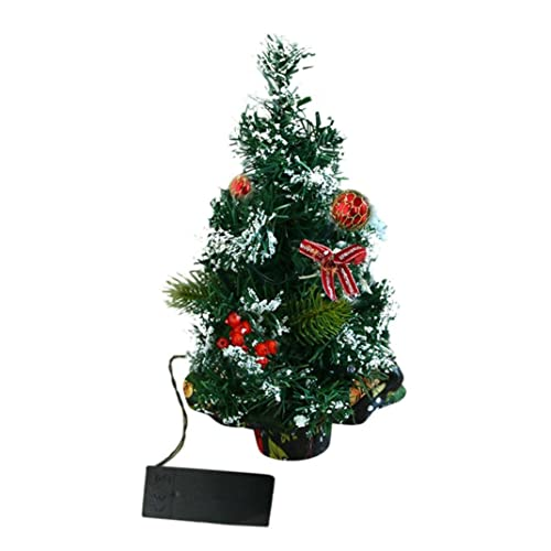 9b78520e534 VENMO LED Lights Up Artificial Tabletop Mini Christmas Tree Craft In Pot  With Baubles Decorations For