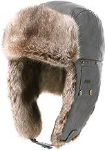 Fancet Unisex Large Head Winter Bomber Trapper Earflaps Ushanka Russian Hat 57-62cm