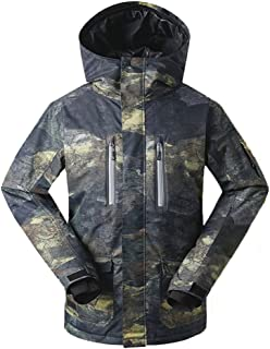 GsouSnow Men's Waterproof Windprooof Winter Outdoor Hooded Ski Jackets Warm Snow Rain Insulated Coat Snowboarding Black