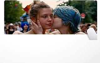 Muismat Blue is The Warmest Color, La Vie d'Adèle muismat antislip op rubberbasis, 80 × 30 cm