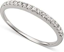 14k White Gold 1.3mm Round Forever Classic Moissanite Wedding Band Ring by Charles & Colvard
