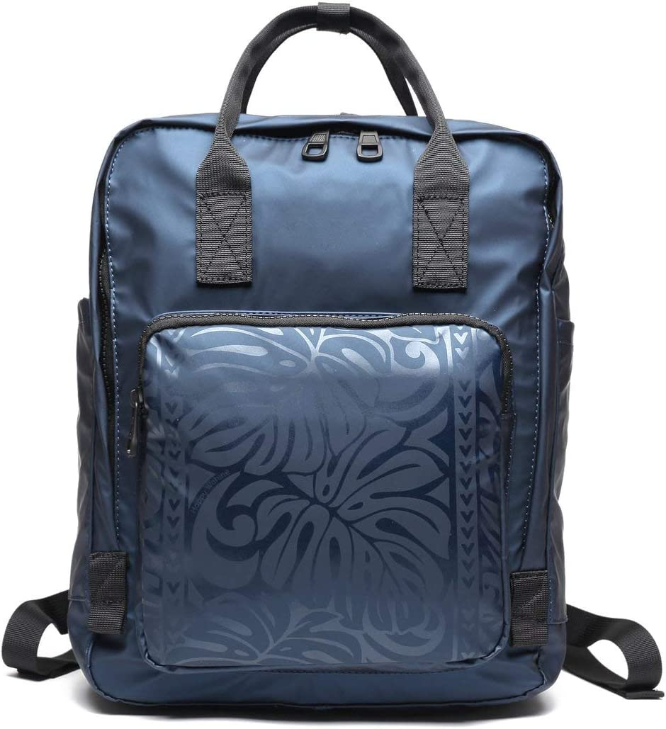 Ho'omau Square Backpack – Monstera Water For New life Ranking TOP1 Resistant Blue