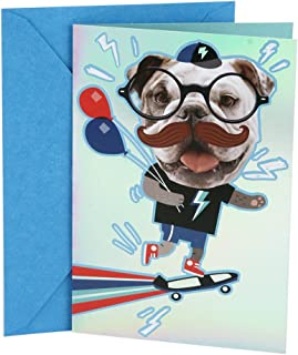 Hallmark Birthday Card for Kids with Mustache Stickers (No Disguising Your Awesomeness)