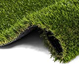 AYOHA 28' x 40' Artificial Grass, Soft Pet Turf Grass Mat, Non Toxic, Thick Lawn Puppy Potty Training, Perfect for Dog Mat Pad, Carpet Doormat, Easy to Clean with Drain Holes, High Density, Hight 35mm