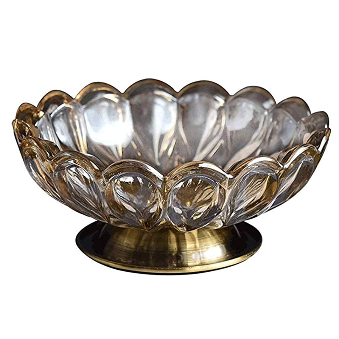 DAFY Creative Ashtray Metal Glass Home Decoration Bedroom Melon Fruit Plate European Fruit Bowl Dried Fruit Bowl Ashtray 166.5cm