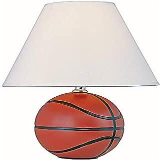Park Madison Lighting PMA1124 Ceramic Basketball Lamp, Brown