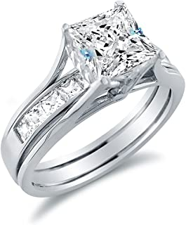 Best 14k white gold cubic zirconia wedding sets Reviews