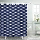 JOOCAR - Cortina de ducha de tela de poliéster impermeable con 12 ganchos, 183 x 183 cm, Tejido de poliéster, C19., 72x72 Inch