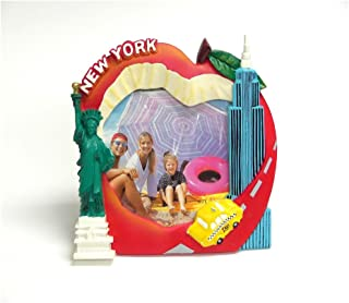 Rockin Gear Picture Frame Big Apple New York Souvenir and Gift - Fits 4 X 6 Inch Photo - Collectible NYC Souvenir and Gift