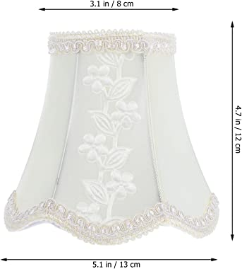 Balacoo Small Lamp Shade Clip On Bulb Barrel Cloth Lampshade Protector Lamp Cover for Table Lamp Chandelier Wall Lamp Candela