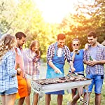 Uten Barbecue Grill Portable BBQ Charcoal Grill Smoker Grill for Outdoor Cooking Camping Hiking Picnics Backpacking 9