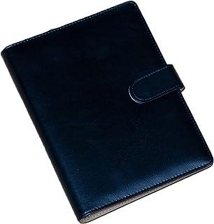 RAPS システム手帳 A5 ビジネスオフィス用品 ノート メモ帳 6穴リング カード収納 ペンホルダー付き プレゼント 多機能 (黒)