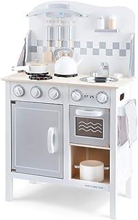 New Classic Toys Cuisine-Bon Appetit-DeLuxe-Blanche/Argent, 11061, Multicolore Color