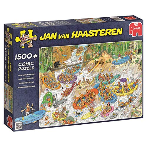 Jumbo 19015 - Jan van Haasteren - wildwater-rafting, 1500 delen puzzel