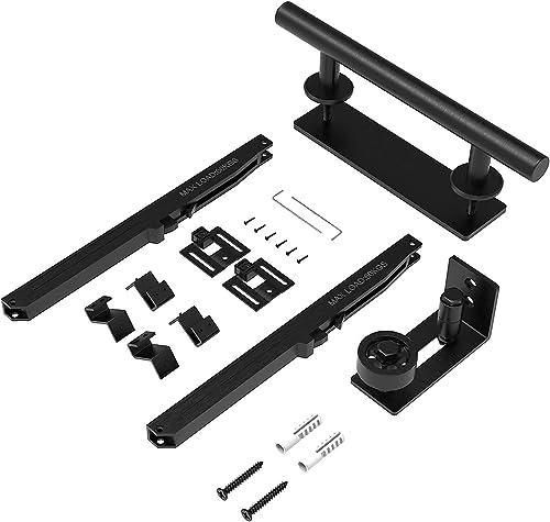 2021 Barn Door Hardware 3 Accessories, Match 88-132 Pounds Single popular Door(Normal Door), Include Floor Guide, Handle and discount Soft-Close Mechanism outlet sale