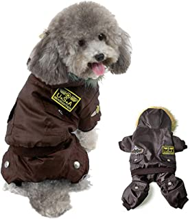 Refial USA Pet Air Force Costume, Dog Cold Weather Coats, Dog Halloween Costumes Hoodie Waterproof Rainproof Dog Clothes for Small Medium Large Dogs Halloween Christmas Sweater Pet-Costumes Outfits